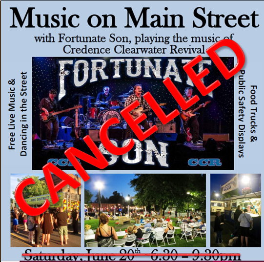 Cancelled 2020 Music on Main Street